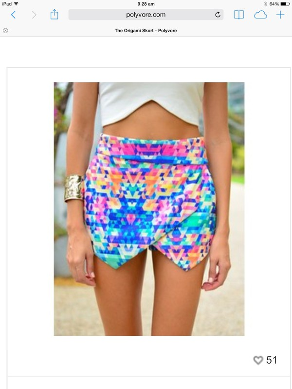 multicolor skorts shorts