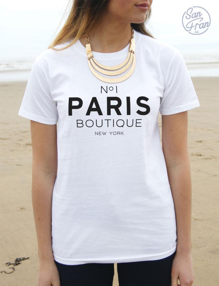 * No 1 PARIS BOUTIQUE New York T-shirt Top TUMBLR Blogger Fashion No1 *
