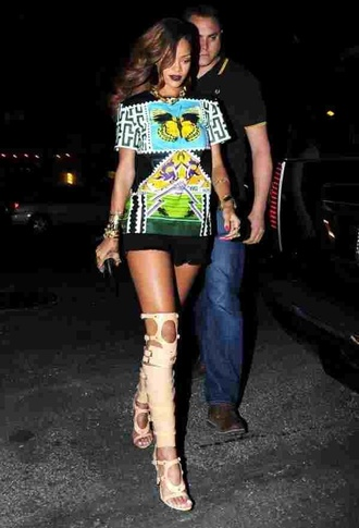 shoes rihanna gladiators shirt dress