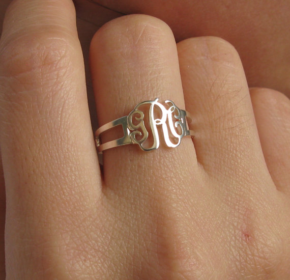 Initial Monogram Ring   Custom Ring  Bridesmaid Ring  by Bestyle