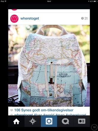 bag bag world card earth map
