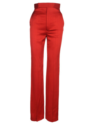 high waisted high red pants