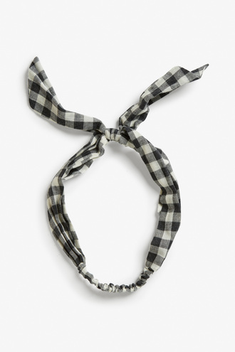 hair accessory headband checkered