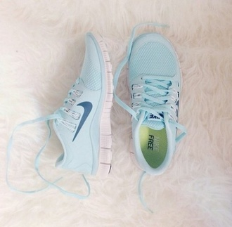 shoes pastel sneakers light blue nike free run nike