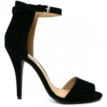 Black Suede Style Peep Toe Shoes | Buy Black Suede Style Peep Toe Shoes Online