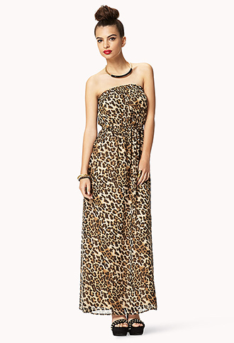 Untamed Leopard Chiffon Maxi Dress | FOREVER21 - 2042799764