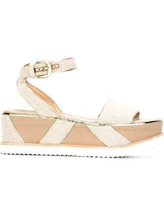 women sandals platform sandals leather nude cotton shoes