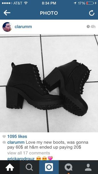 shirt heels and boots black heels