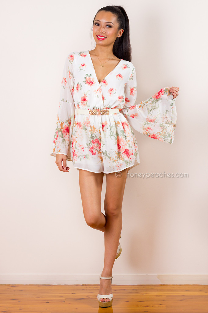 Dreaming of You Floral Playsuit – Honey Peaches