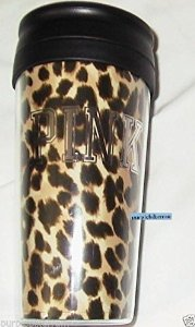 Amazon.com: victoria's secret pink coffee or tea portable cup brown leopard animal: kitchen & dining