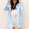 Pvc festival raincoat mac in baby blue