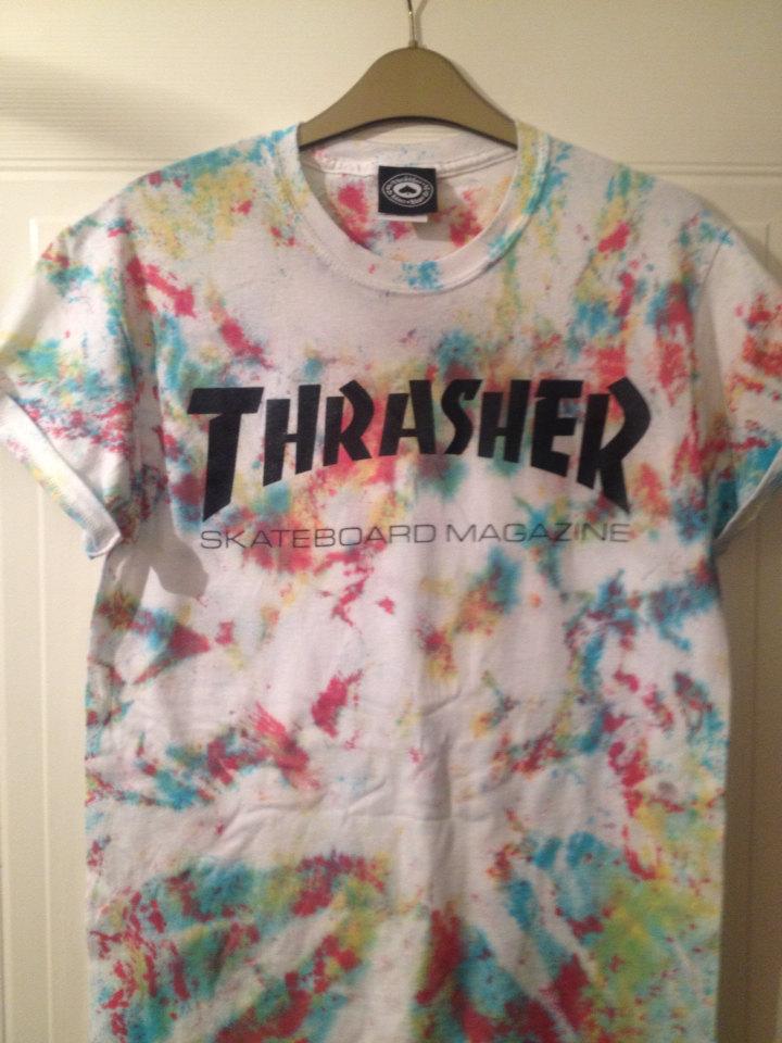 Thrasher t Shirt Tie Dye Tie Dye Thrashers t Shirt