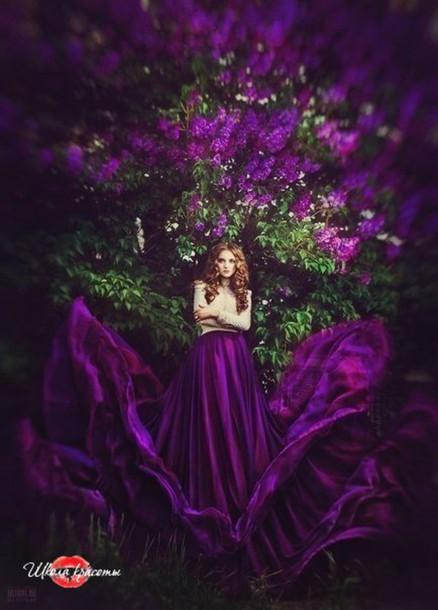 dress purple beautiful
