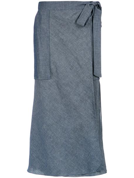 skirt midi skirt women midi blue