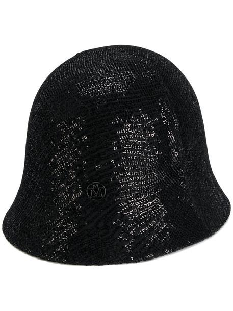 embellished hat black