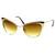 Womens Full Metal Fashion High Tip Pointed Cat Eye Sunglasses 9289