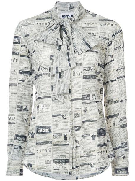 Moschino blouse women white print top