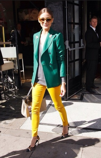 jacket olivia palermo green jacket