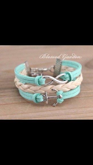 jewels infinity anchor bracelets