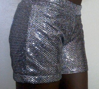shorts silver sequins confetti shiny party casual fancy cheerleading dance