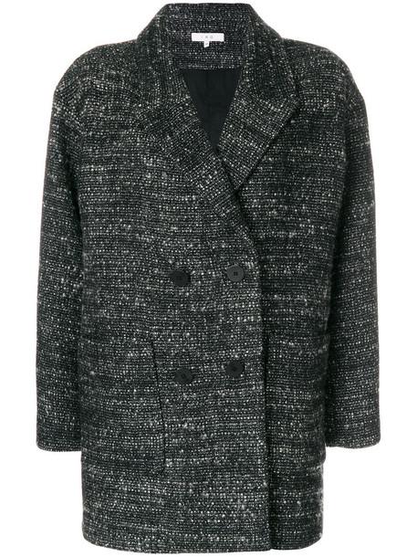 Iro coat women spandex cotton black wool