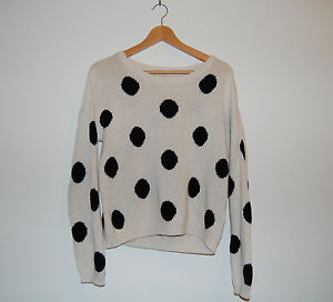 H&M Cream & Black Polka Dot / Spotty Jumper. Size 8 (EUR 34) | eBay