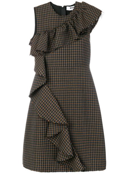 MSGM dress women wool brown
