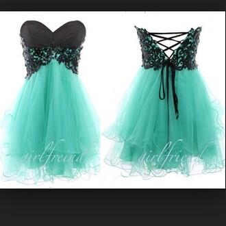 dress prom teal dress