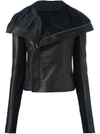 jacket biker jacket asymmetrical black