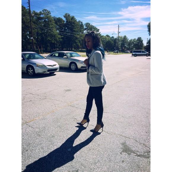 jacket blazer heels