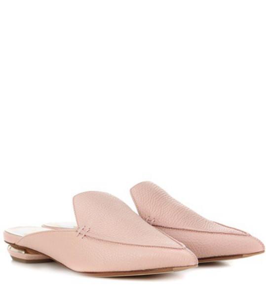 Nicholas Kirkwood Beya leather mules in pink