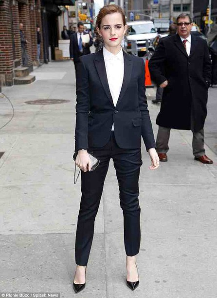 pants emma watson classy office outfits blazer tailoring