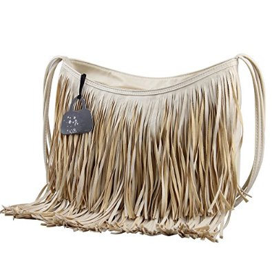 EABAG Fringe Tassel Messenger Bag Hobo Shoulder Bag Crossbody Handbag (khaki): Handbags: Amazon.com