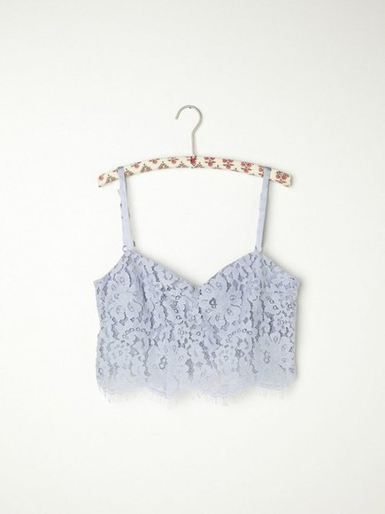 lace ivory shirt crop tops tank tank top blue crochet top summer party girl pretty love strap t shirt shorts trousers flower grey cream
