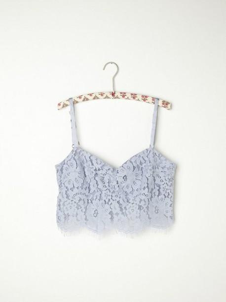 65a9f5e3a9442 lace summer party girl pretty light blue top crop tops shirt bralette crop  blouse festival cute