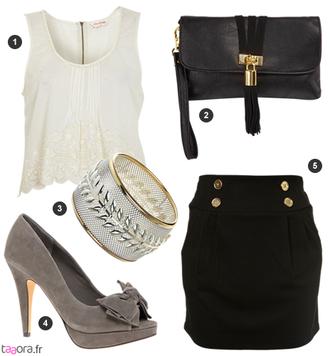 skirt black skirt gold buttons