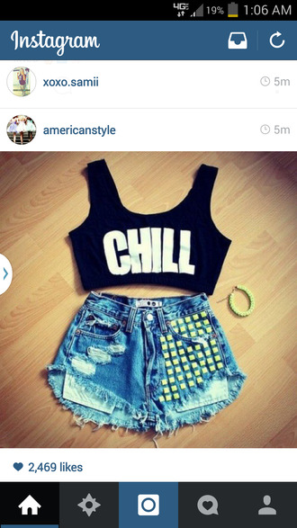 studded shorts high waisted shorts ripped shorts denim shorts top