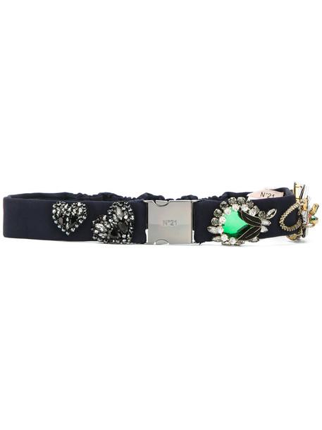 embellished belt blue