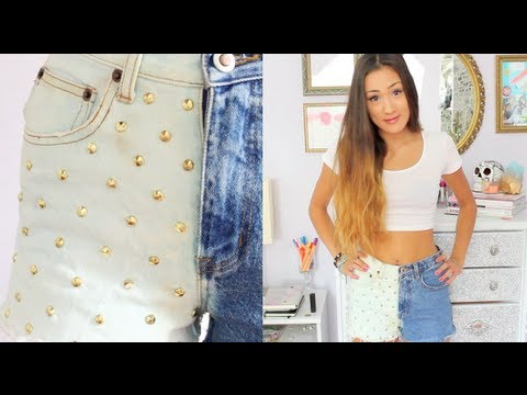 DIY: Half & Half Bleached Shorts - YouTube