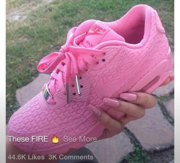 shoes nikes pink sneakers nike sneakers air max nike think pink nike air max 90