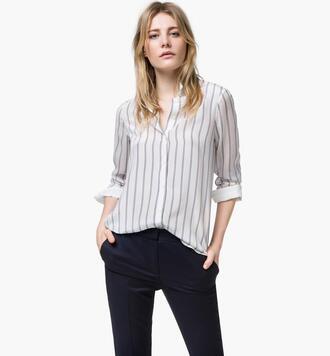 blouse stripes striped shirt
