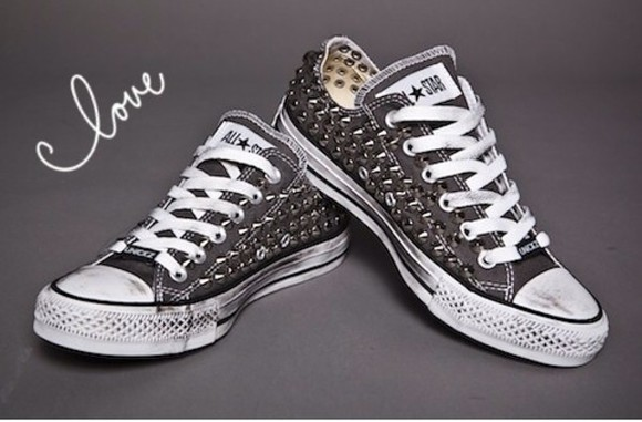 studs shoes grey converse blacks