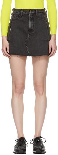 Simon Miller miniskirt denim black skirt