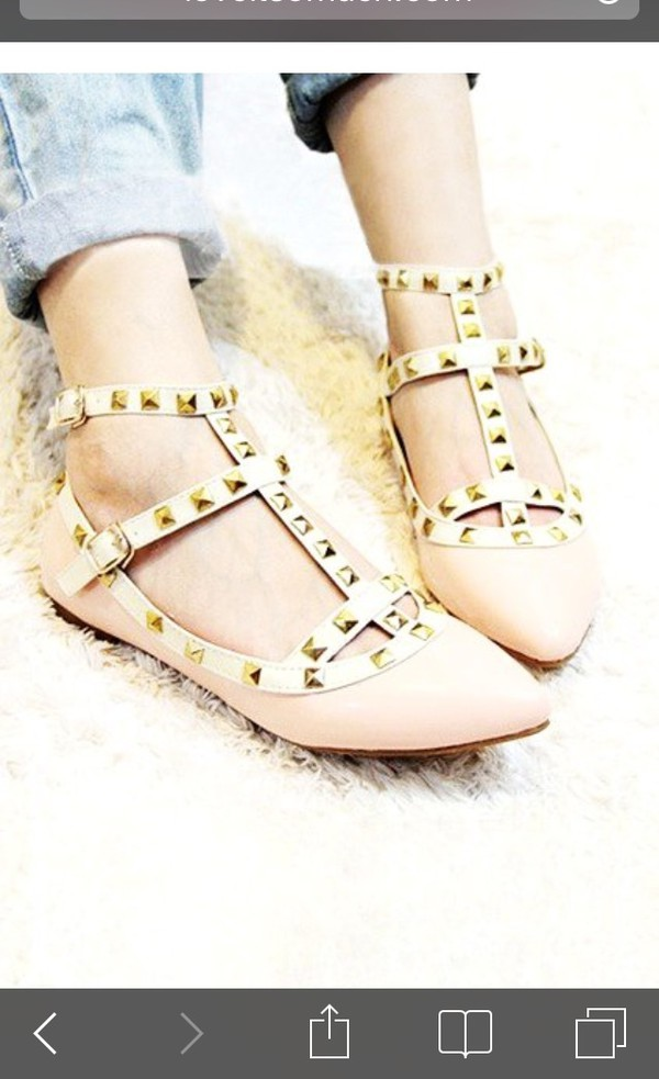 shoes studded flats