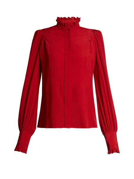 Isabel Marant blouse high red top