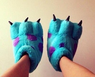 shoes slippers blue tumblr monsters inc sleepwear sleepers slip on shoes smoking slippers