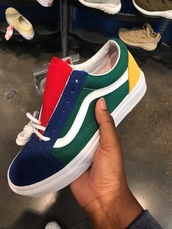 shoes,vans,red yellow blue green and white