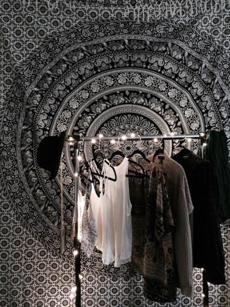 Home Accessory Boho Chic Dorm Room Tapestry Mandala Closet Wall Tapestry Part 72