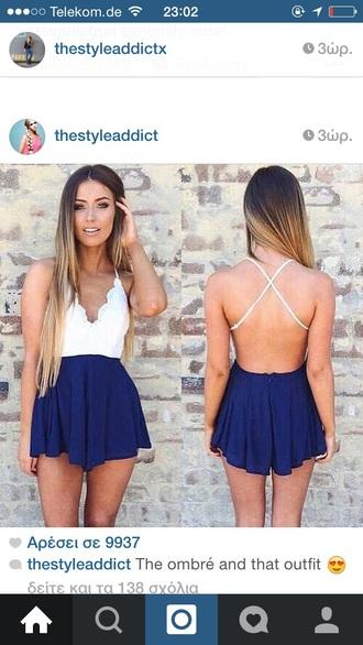 dress cute summer style summer dress blue dress blue prom dress white dress fashion diva style