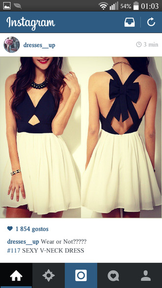 bows black and white bow dress